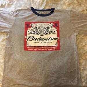 Budweiser ringer T-shirt size medium